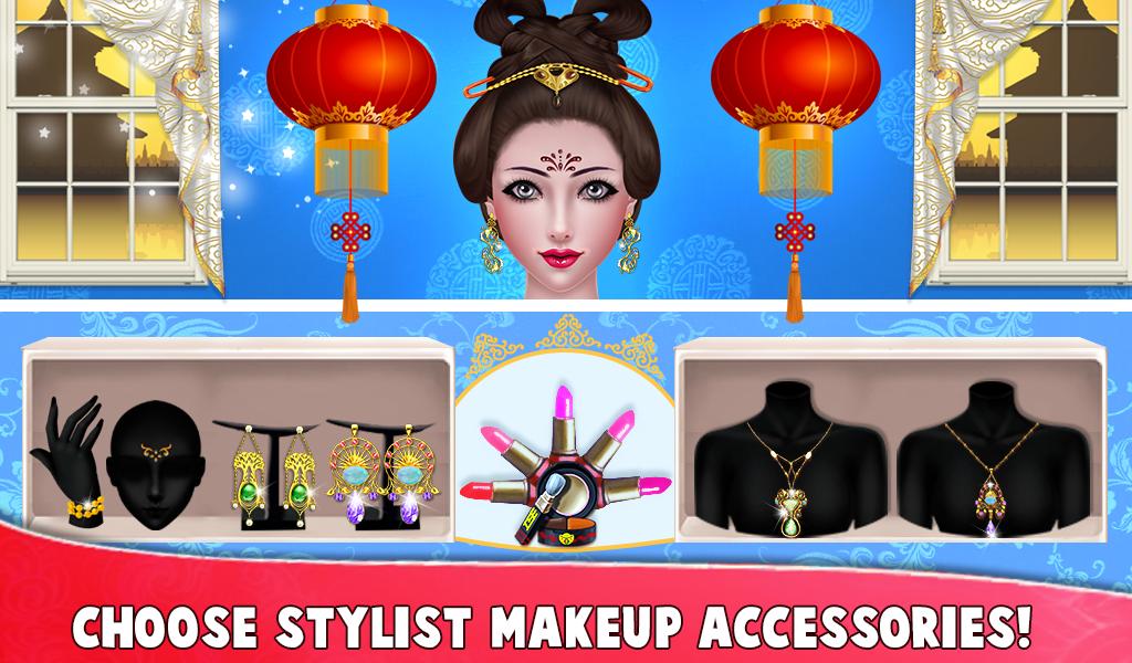 Chinese Girl Fashion Doll Dressup & Makeup Salon