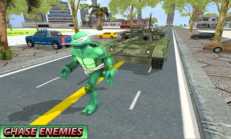 Dino turtle Hero Tank Battle