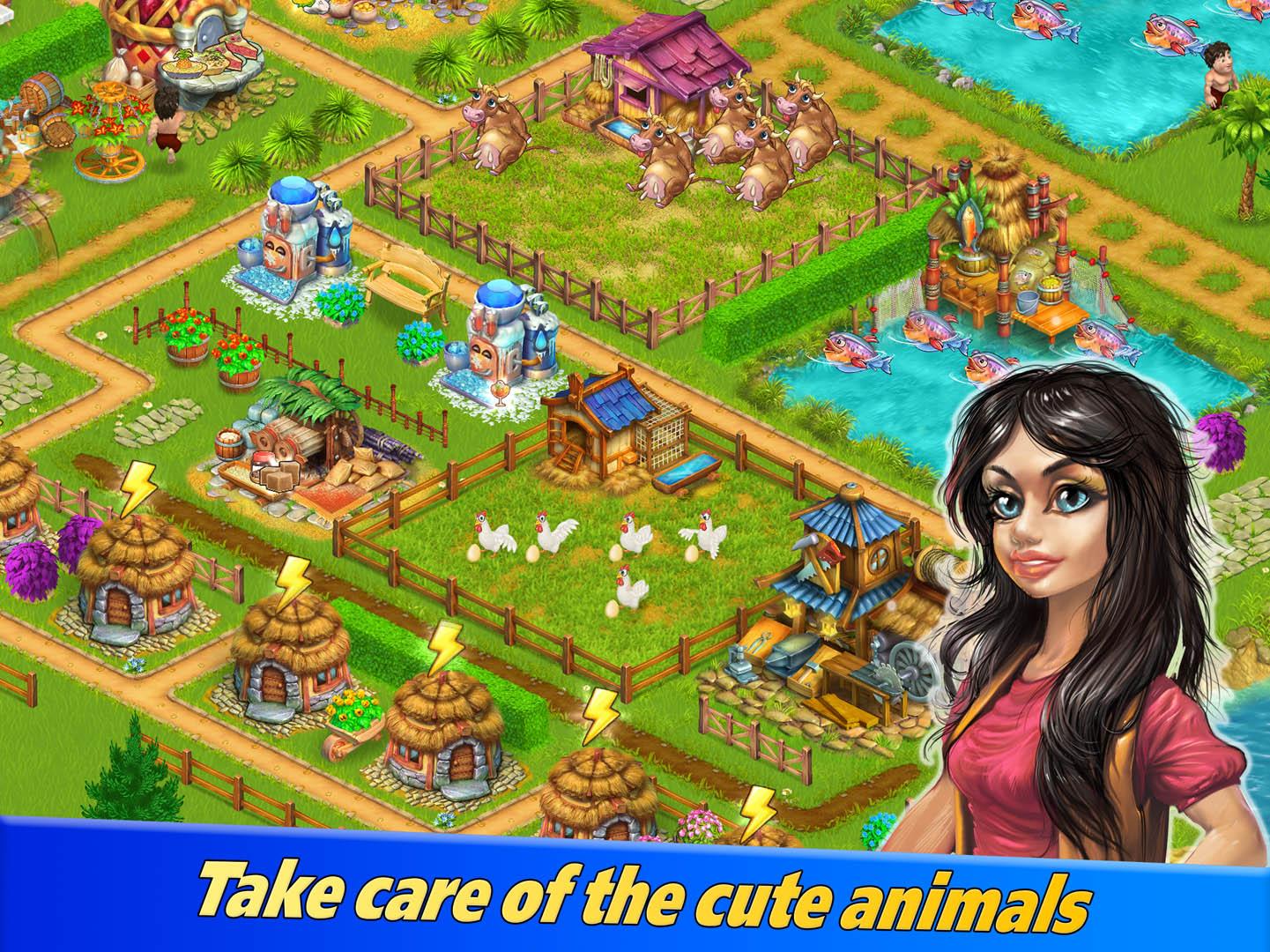 Farm Tribe 3: Cooking Island