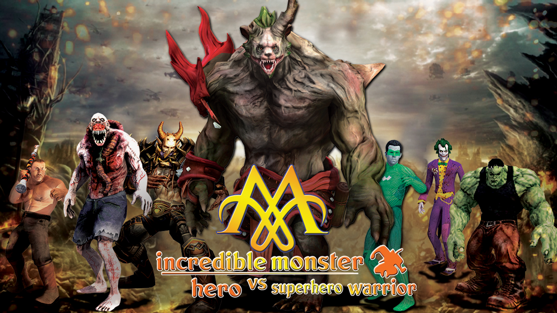Incredible Monster Fighter vs Superhero Warrior