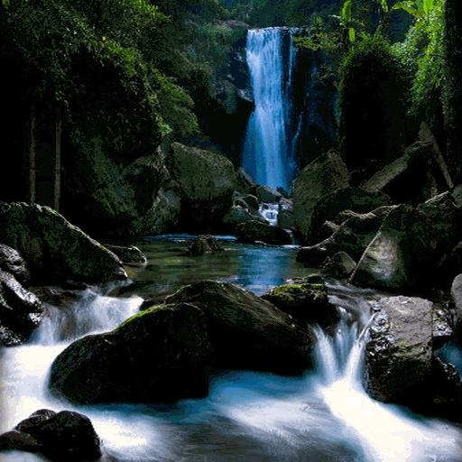 Mountain Waterfall Live Wallpaper