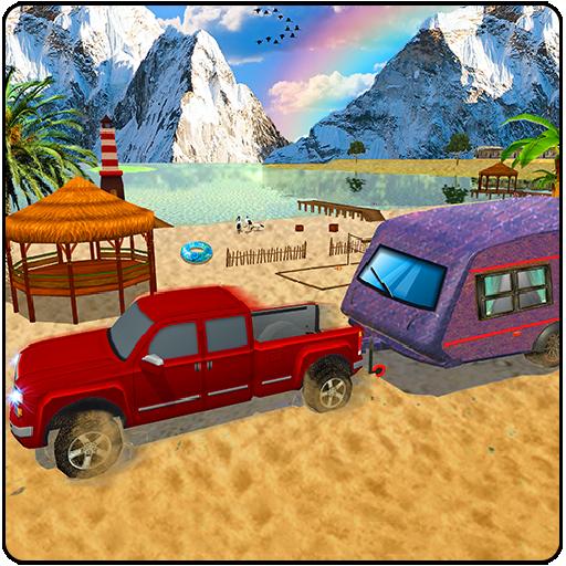 Offroad Camper Truck Driving Simulator