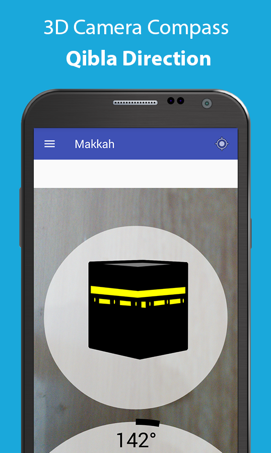 Qibla Compass 3D- GPS & Visual Qibla Direction