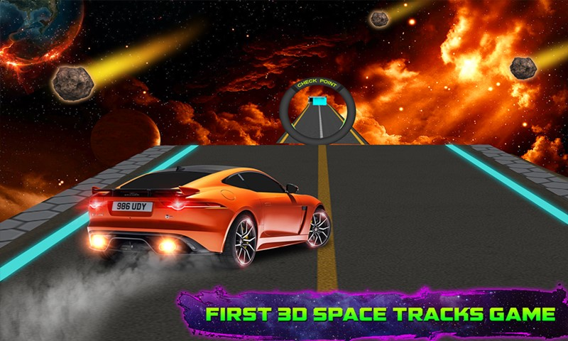 Amazing Car Driving Simulator: Space Tracks