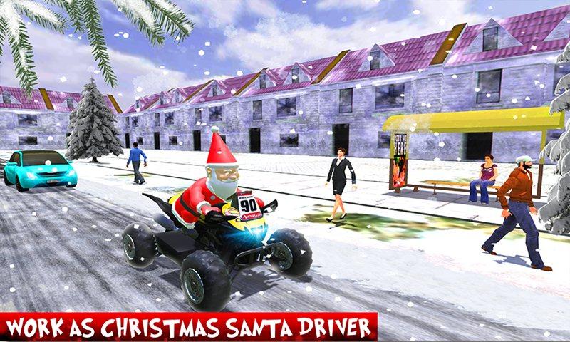 ATV Quad Bike Taxi: Crazy Santa