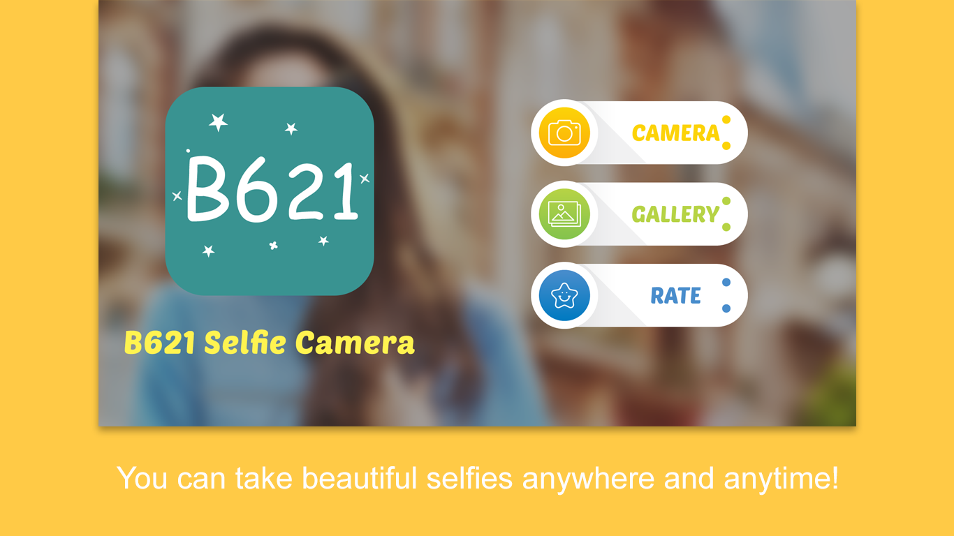 B621 Selfie Camera and Stickers