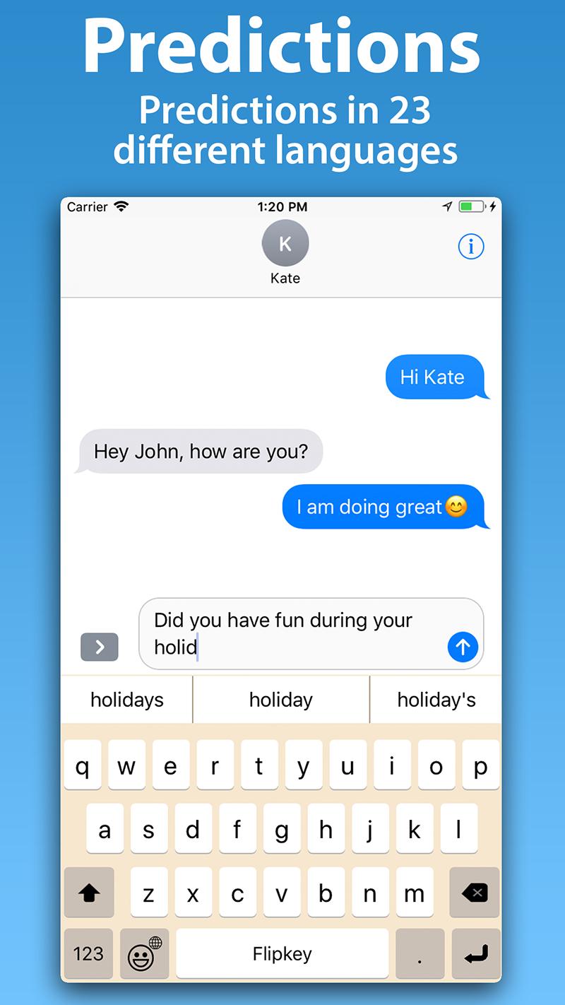 FlipKey Keyboard - Flip to Snap