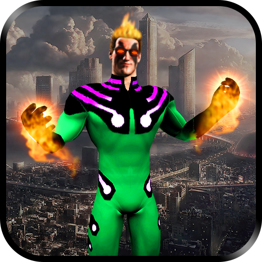 Flying Torch Hero City Crime Battle