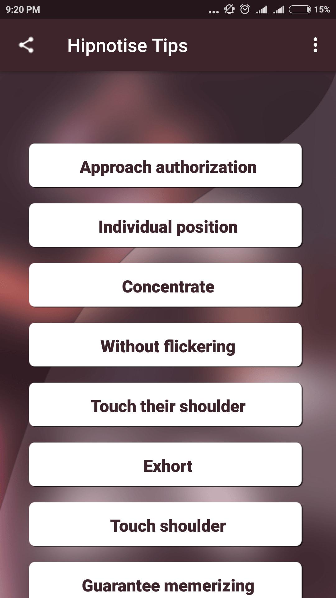 Hipnotise Tips