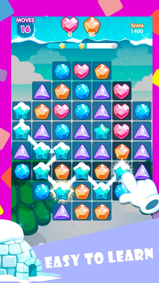 Ice Blast - jewel scatter