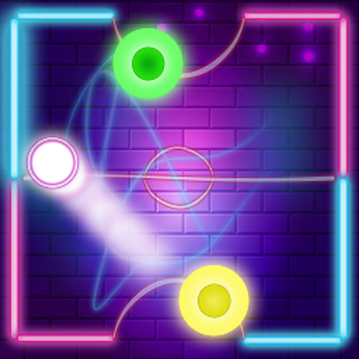 Neon Air Hockey Glow