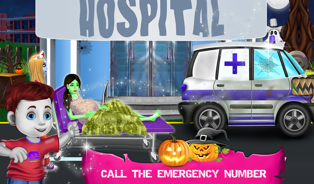 New Born Baby Care Halloween Hospital