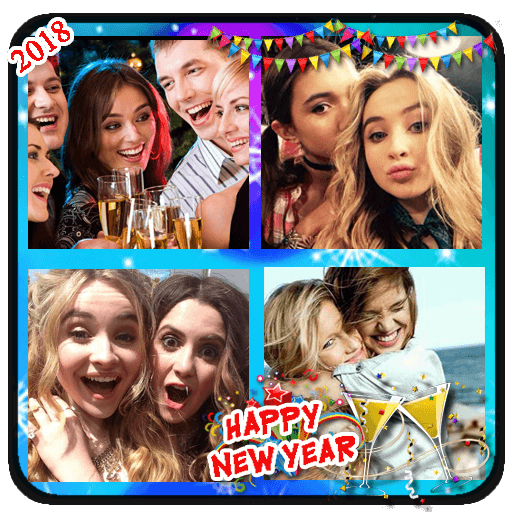 New Year Photo Collage 2018