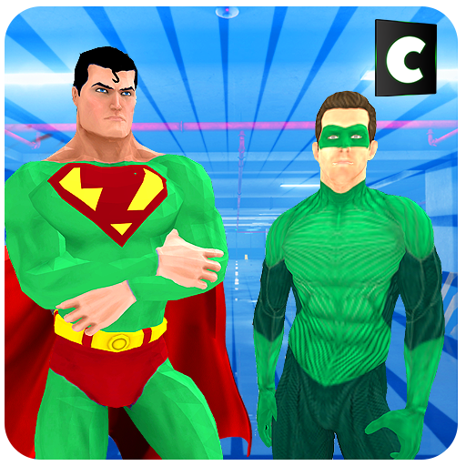 Super Hero Green Man Battle Simulator