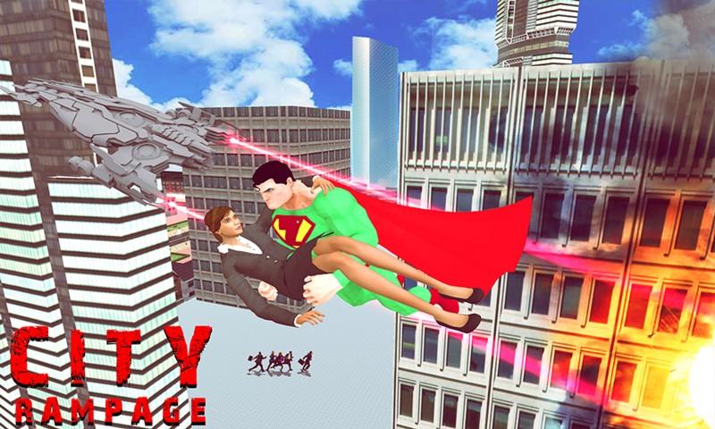 Super Hero Green Man Battle Simulator