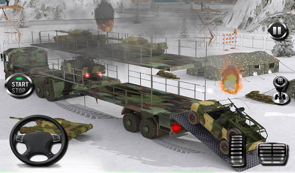 US Offroad Army Cargo Truck Driving Transport Game