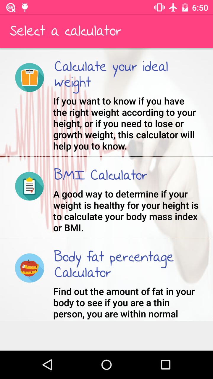 WomApp Diets Health Tools Love Tests Zodiac info