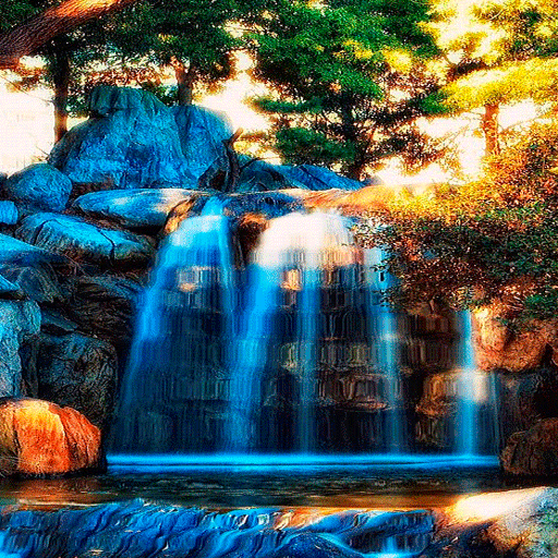 Blue Waterfall Mountain LWP