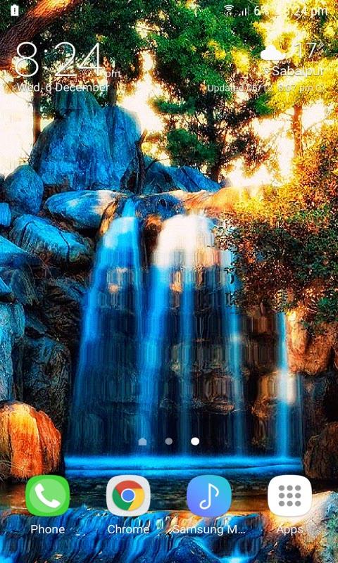 Blue Waterfall Mountain LWP