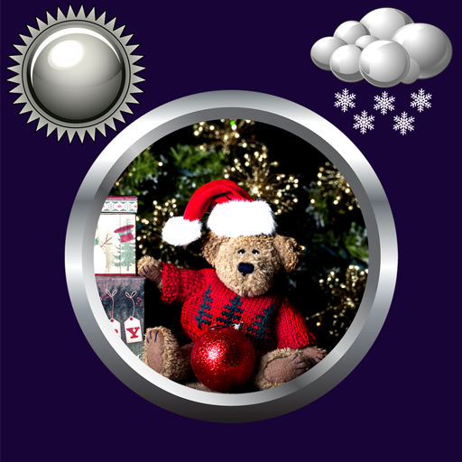 Christmas Clock Weather Widget
