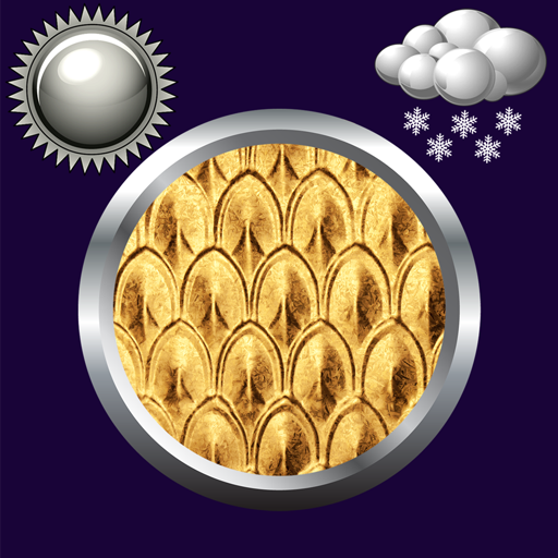 Golden Clock Weather Widget