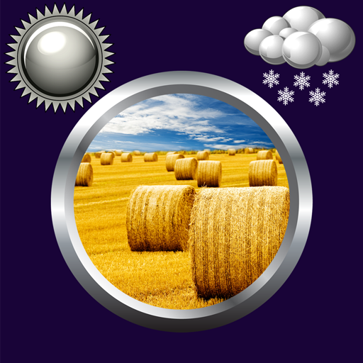 Hay Bales Clock Weather Widget