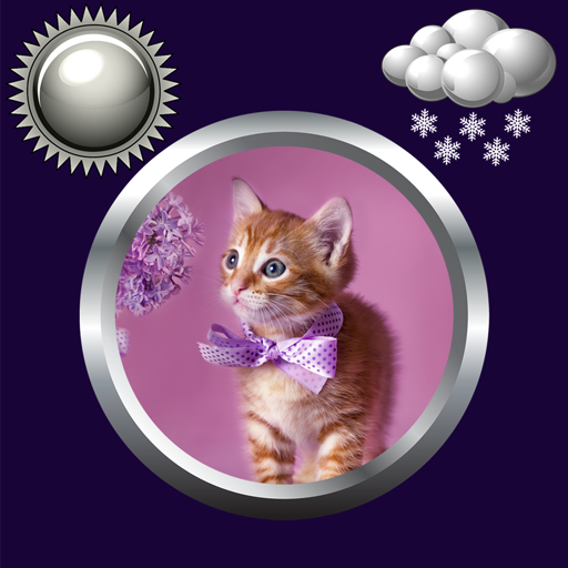Kitty Clock & Weather Widget
