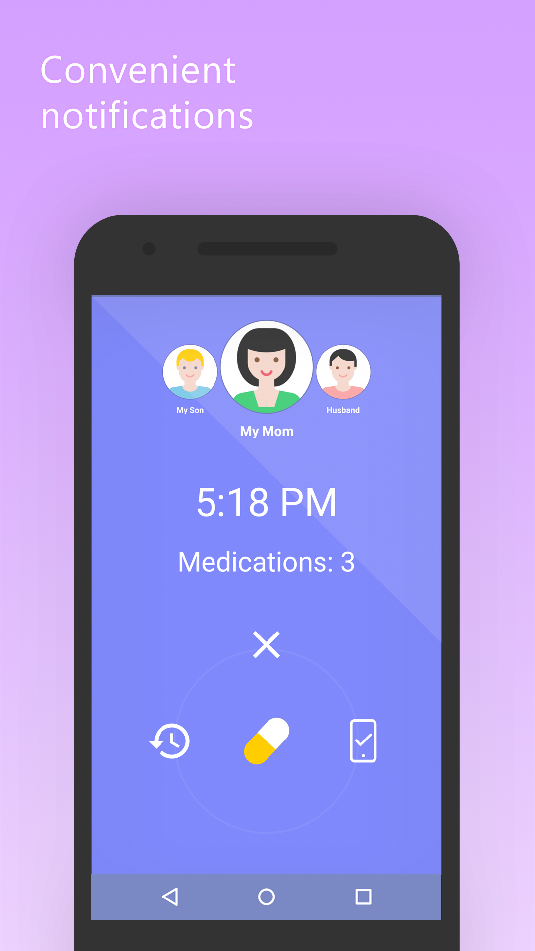 Mr. Pillster pill and medicine reminder alarm app