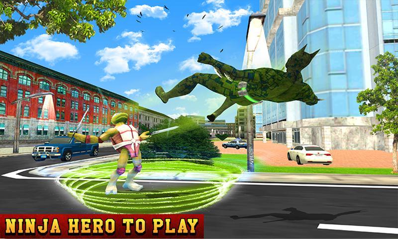 Multi Ninja Hero Vs Evil Turtle Villain