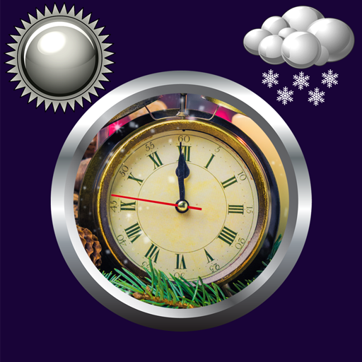 New Year Clock Weather Widget
