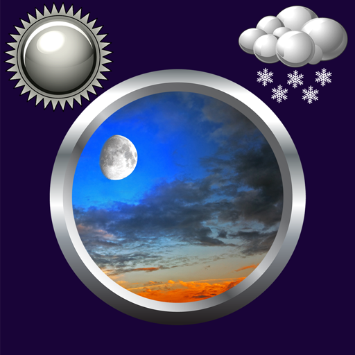 Night Sky Clock And Weather
