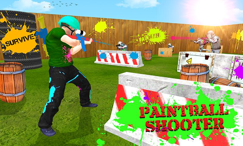 Paintball Shooting Combat Arena