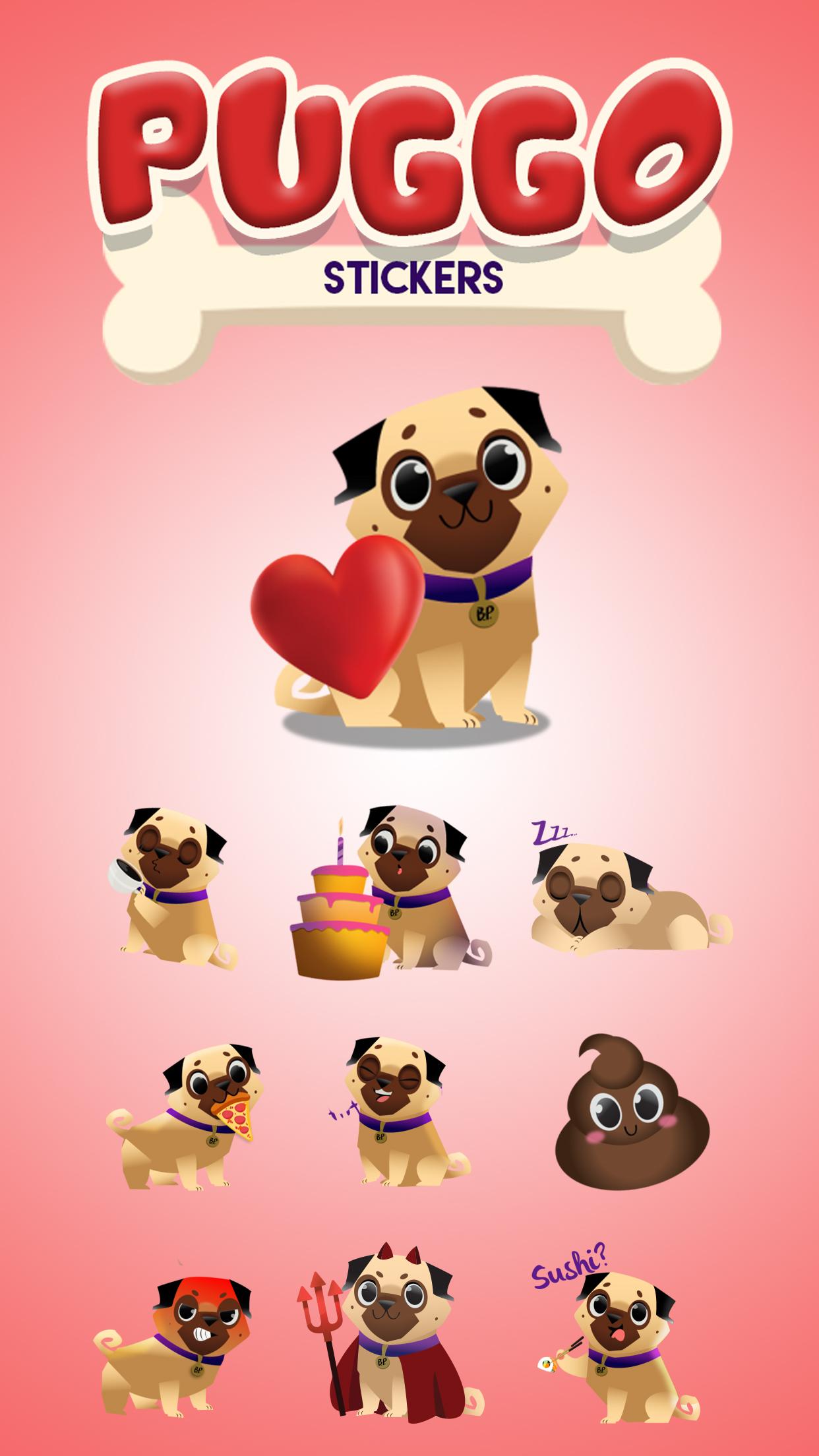 Puggo Stickers - Animated
