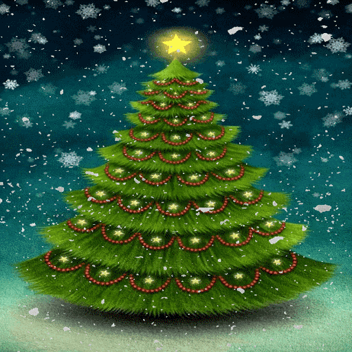 Snowy Christmas Tree LWP