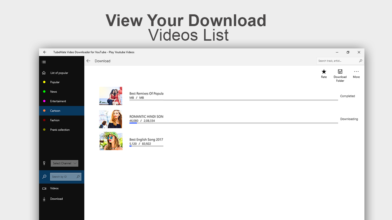 Video & MP3 Music Downloader for YouTube Videos