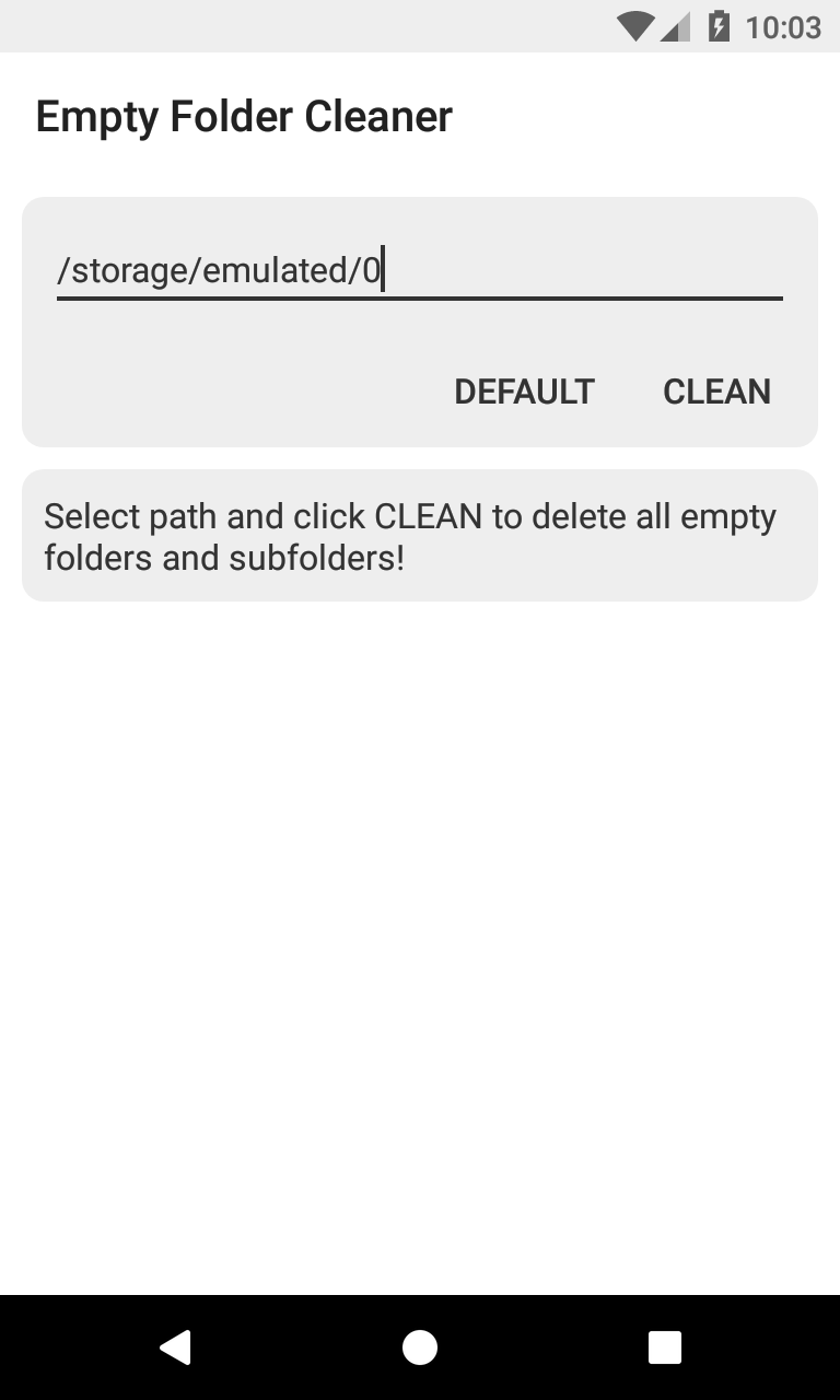 Empty Folder Cleaner