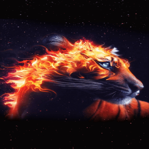 Fiery Tiger King LWP