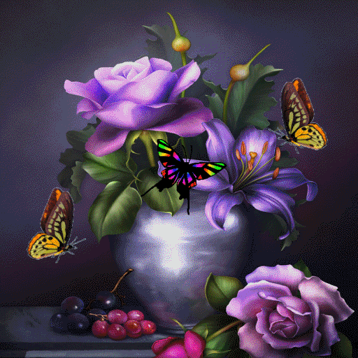 Butterflies Pot Live Wallpaper