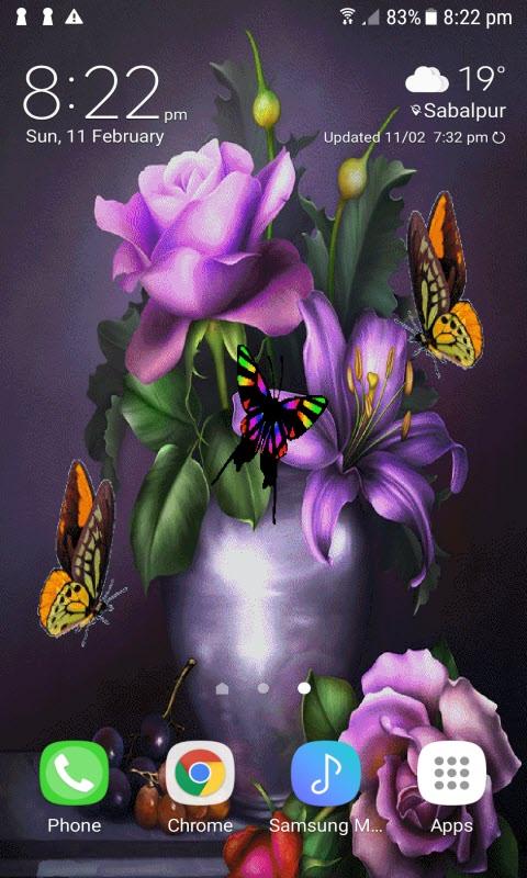 Butterflies Pot Live Wallpaper