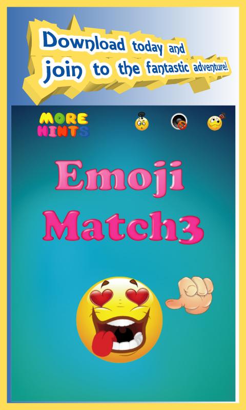 Emoji Match 3 Puzzle Game