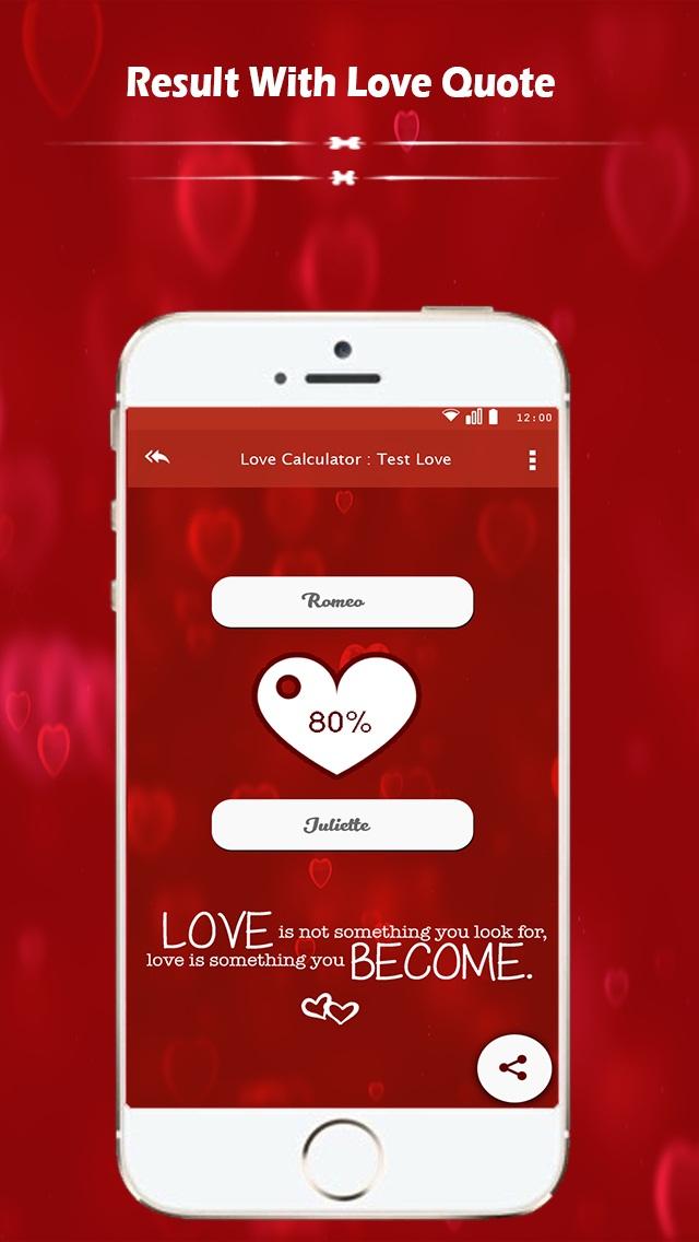 Love Calculator : Test Love