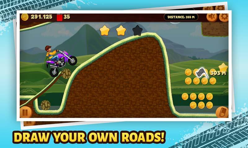 Road Draw: Hill Climb Moto Racing