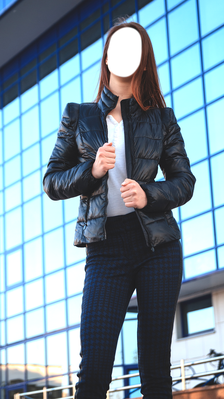 Woman Jacket Suit Photo Camera