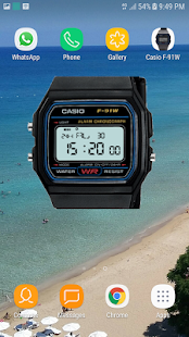 Casio F-91W Watch Widget