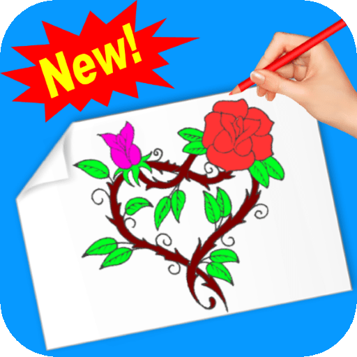 Drawing and coloring my roses