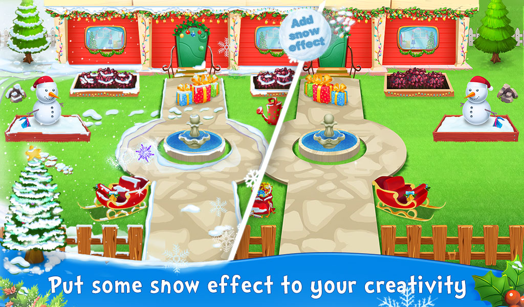 Dream Home Winter Mansion - Home Decoration Game