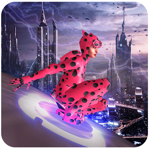 Flying Lady Bug City Crime Battle