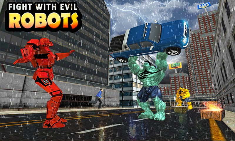 Futuristic Robots vs City Monster Battle