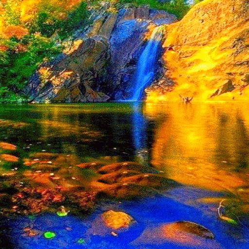 Golden Mountain Fall LWP