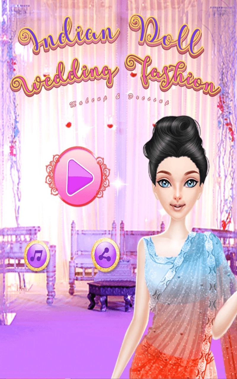 Indian Doll Wedding Fashion Makeup And Dressup